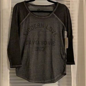 NWT Lucky Brand David Bowie L/S top size Small
